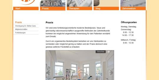 Internet Auftritt Dr. Stefan Ganz, Mannheim