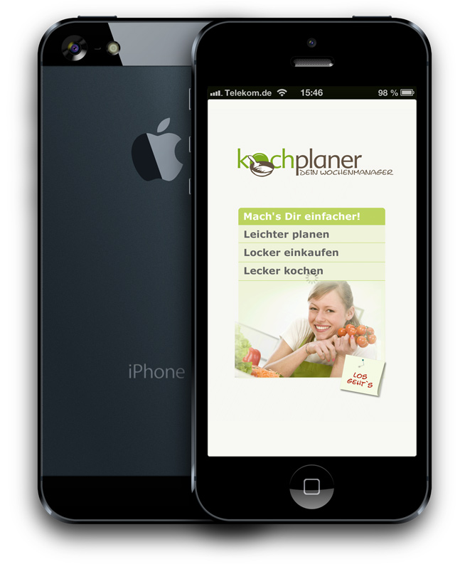 Kochplaner App für iPhone von comvos
