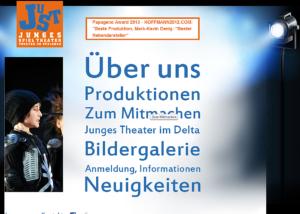 Internet Auftritt Junges Spiel Theater, Ludwigshafen