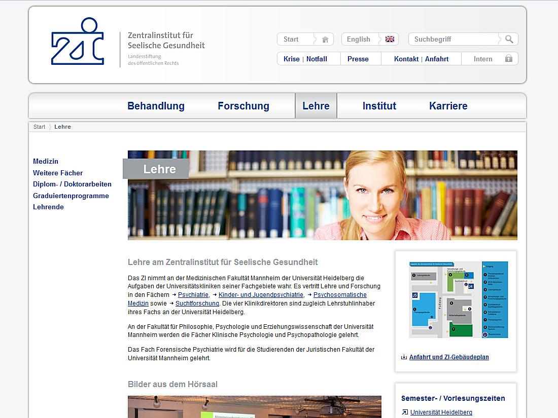 Internet Auftritt Zi, Mannheim - Lehre
