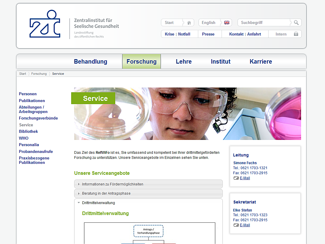 Internet Auftritt Zi, Mannheim - Service