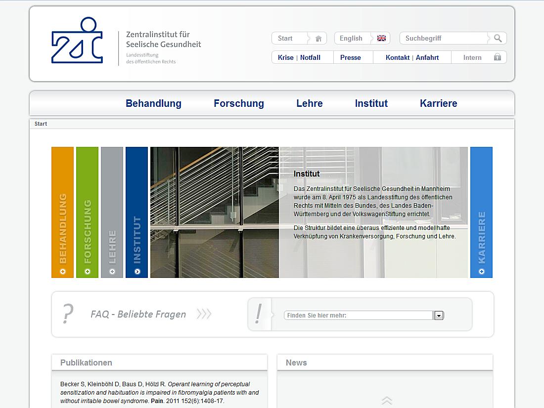 Internet Auftritt Zi, Mannheim - Startseite