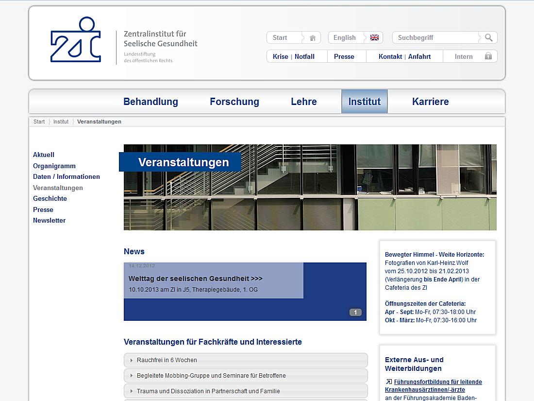 Internet Auftritt Zi, Mannheim - Veranstaltungen