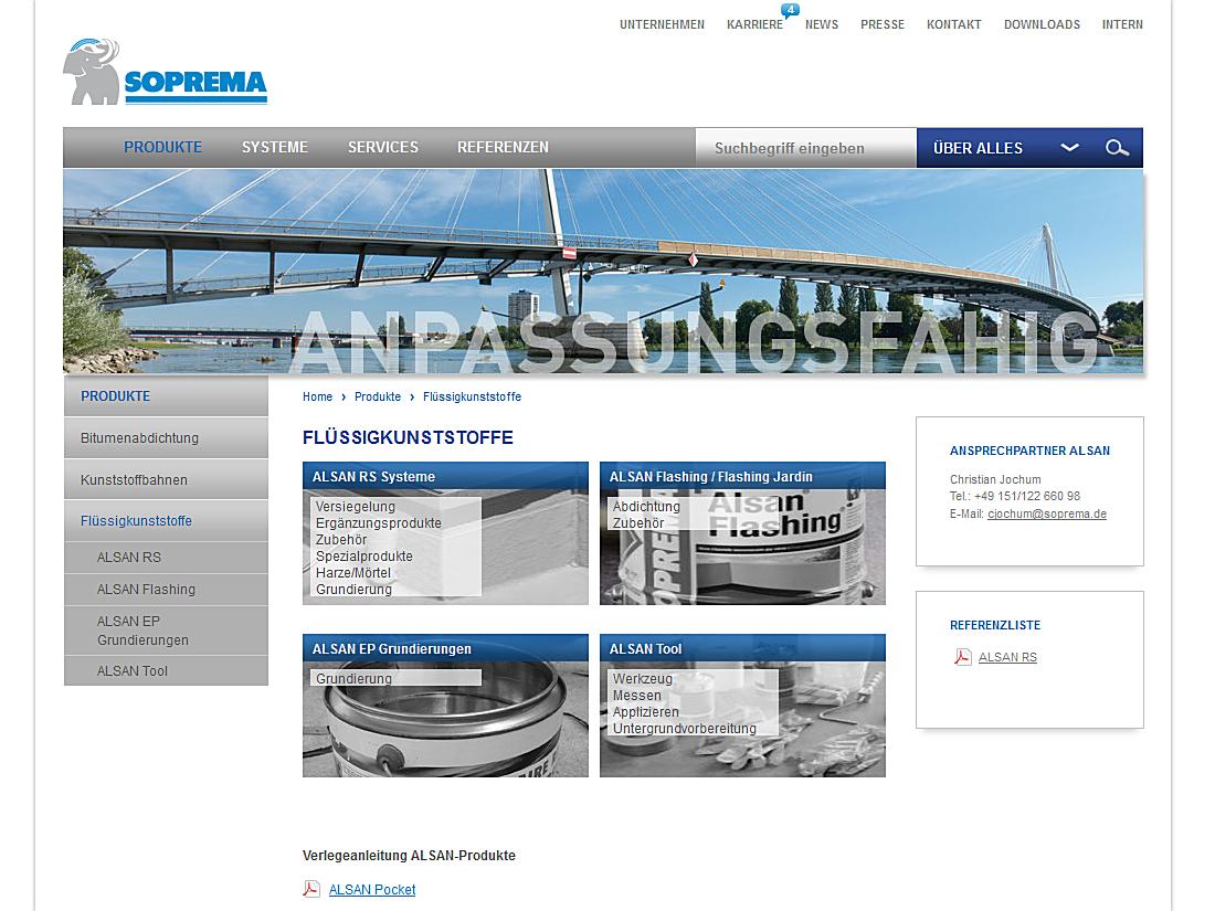 SOPREMA-KLEWA GmbH, Mannheim - Poduktübersicht