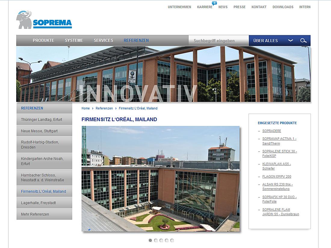 SOPREMA-KLEWA GmbH, Mannheim - Referenz