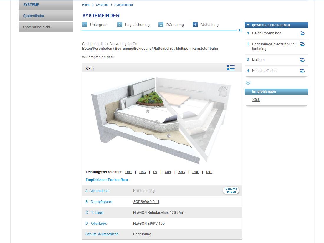 SOPREMA-KLEWA GmbH, Mannheim - Systemfinder