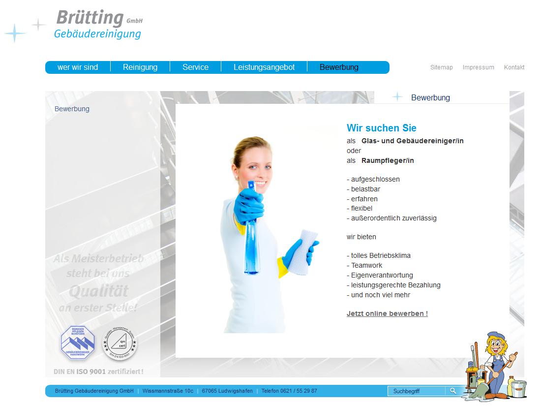 Brütting Gebäudereinigung GmbH - Stellenausschreibungen