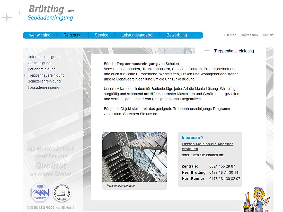 Brütting Gebäudereinigung GmbH - Beispielseite