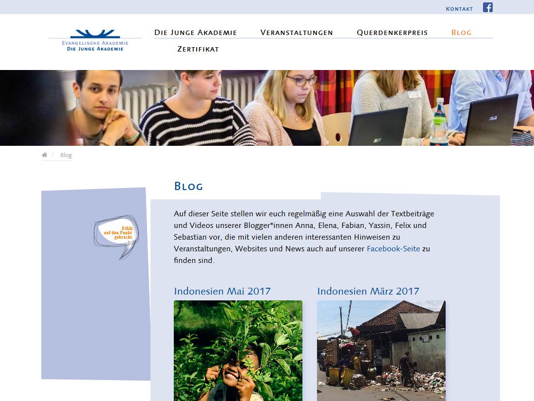 Neuer responsive Internet Auftritt für Die Junge Akademie - Blog