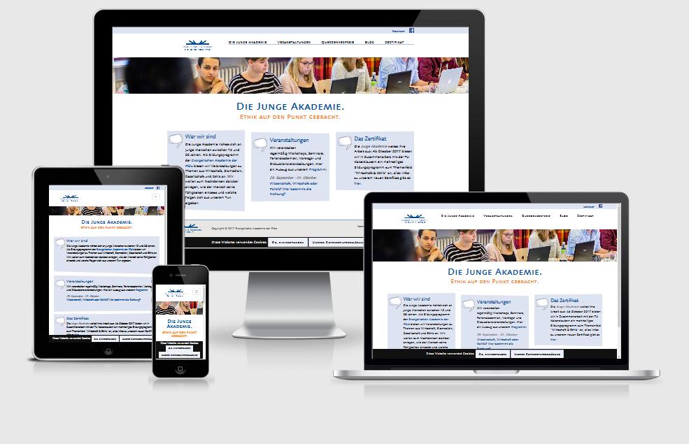 Neuer responsive Internet Auftritt für Die Junge Akademie