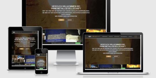 Neuer responsive Internet Auftritt Pan Metallgesellschaft Baumgärtner GmbH & Co. KG, Mannheim