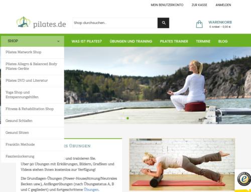 pilates.de Internet Shop