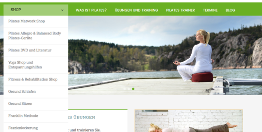 Neuer Internet Shop pilates.de