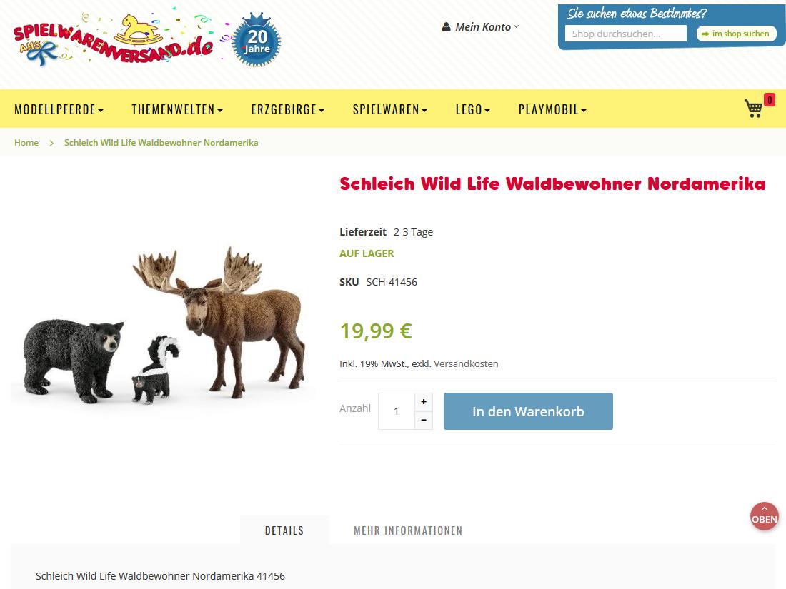Neuer responsive Internet Shop für spielwarenversand.de - Produktseite