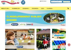 Neuer responsive Internet Shop für spielwarenversand.de - Startseite