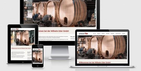Neuer responsive Internet Auftritt Wilhelm Eder GmbH